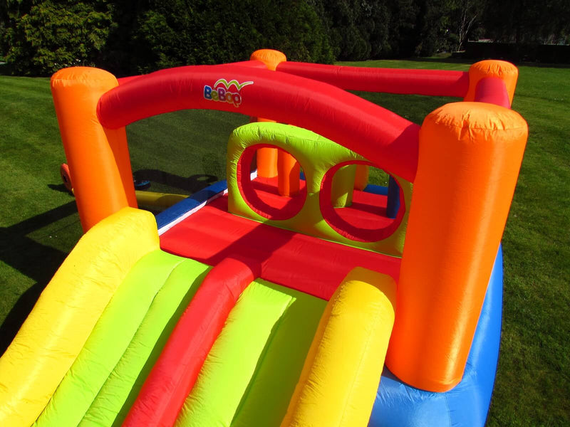 BeBop Inflatable Obstacle Castle With Enclosed Bounce Area