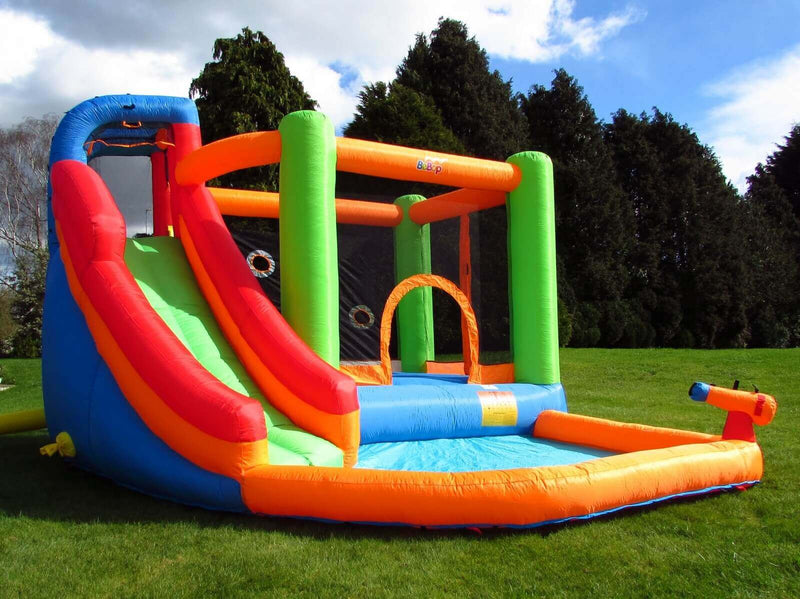 bebop spin combo bouncy castle climbing wall