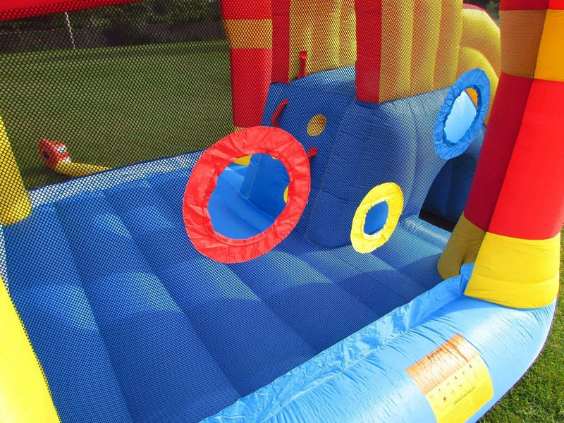 Domestic use BeBop bouncy castle with electric fan