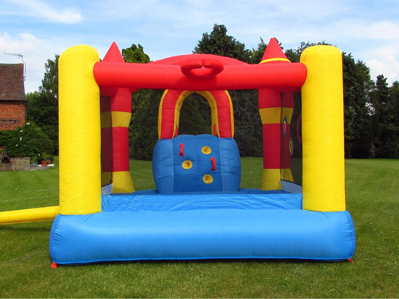 Home use inflatable bouncy castle with slide