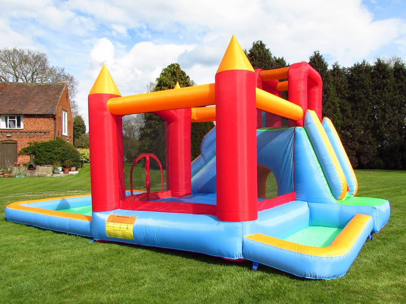 Wild Splash Bouncy Castle and Slide with Splash Pool