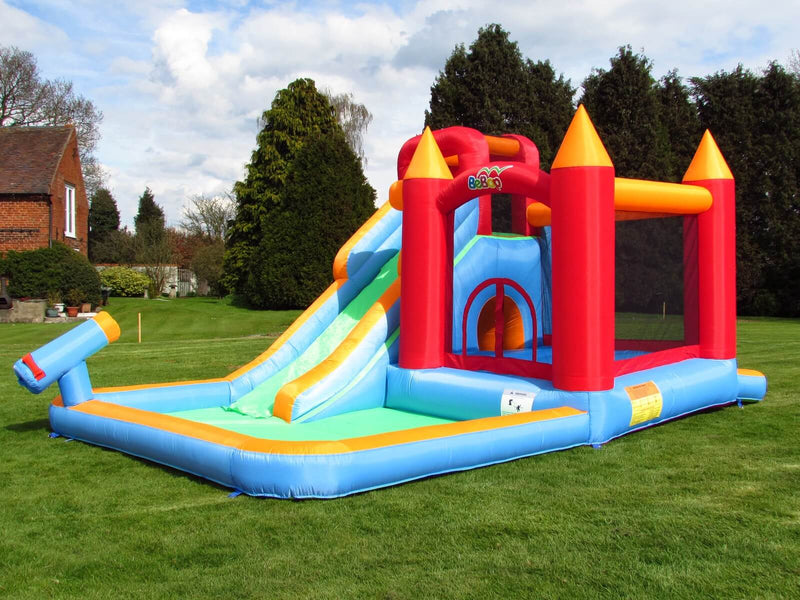 Bebop Wild Splash Inflatable Bouncy Castle and Slide