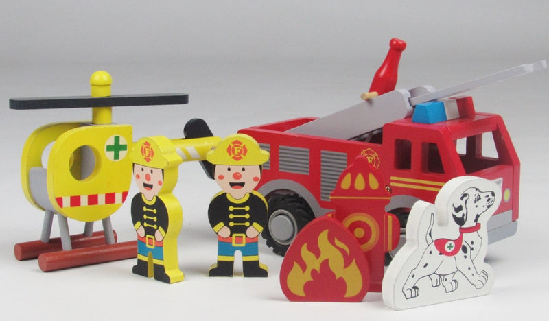 Childrens Butternut Fire Station Rescue Playset