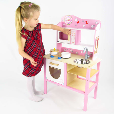 Butternut Wooden Play Kitchen And Accessories