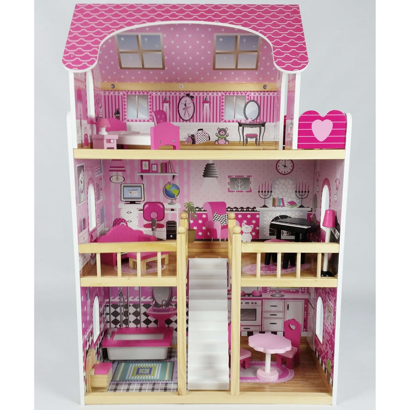 Butternut Kids 3 Storey Dolls House With Balcony