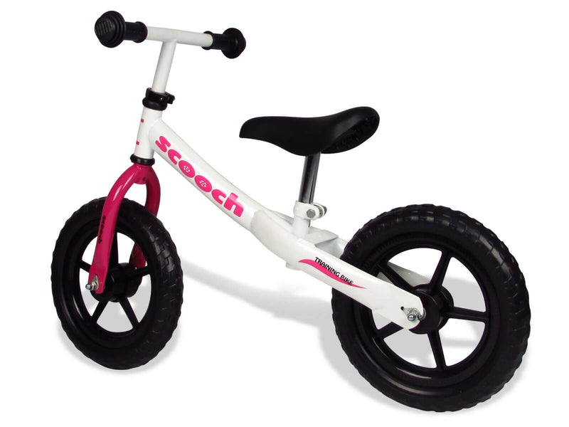 Scooch kids balance bike with adjustable saddle