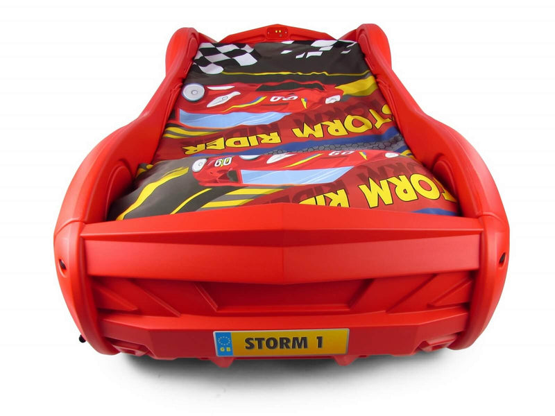 Storm Kids Racing Car Bed With Foam Mattress