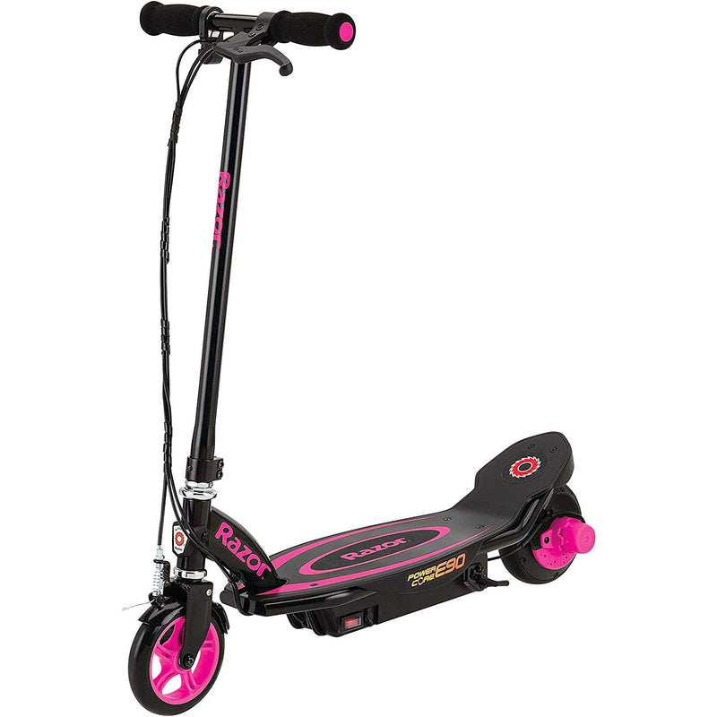 Razor Power Core E90 Electric Scooter - Pink front view