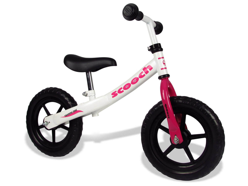BeBop Balance Bike White and Pink