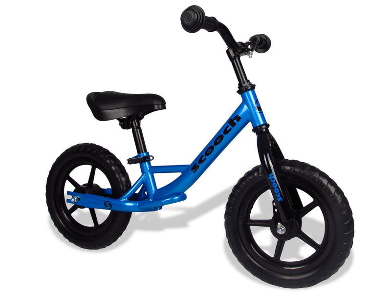 Scooch Kids Balance Bike Black and Blue