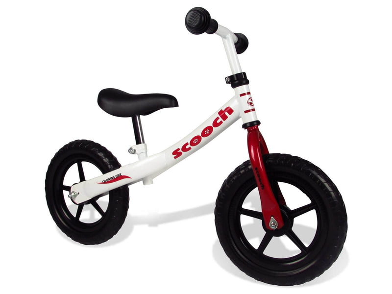 Scooch Kids Balance Bike White and Red