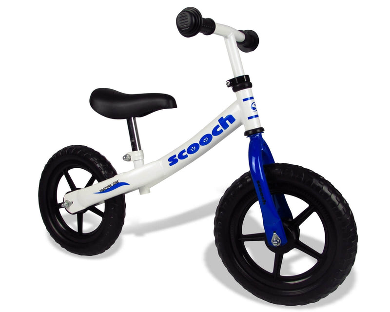 Scooch Balance Bike Blue and White