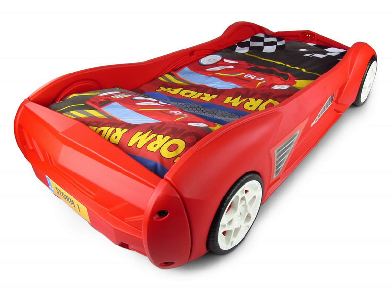 Racing Car Bed With Aux Port For External Music Players