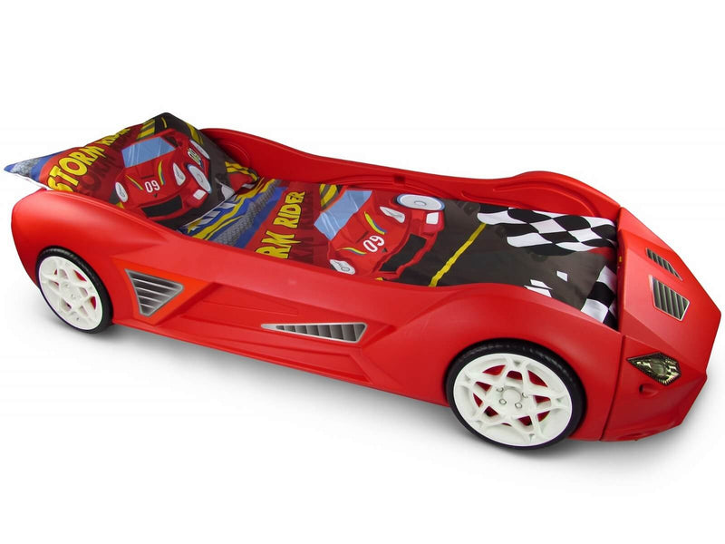 Storm Racing Car Bed And Mattress European Cot Size