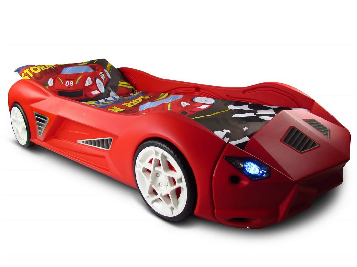 Storm Kids Toddler Racing Car Bed with Lights and Sounds – Toyz World