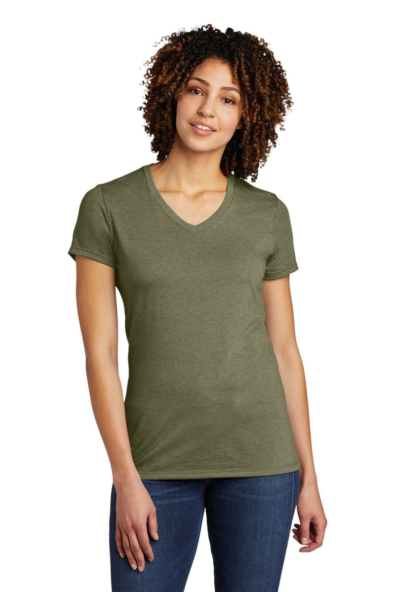 Allmade ® Women's Tri-Blend V-Neck Tee AL2018-T-Shirts-wholesale apparel