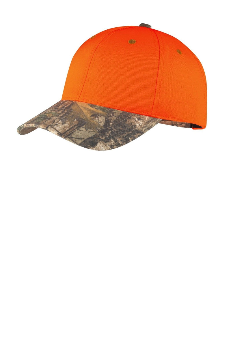 Port Authority® Enhanced Visibility Cap with Camo Brim. C804-Caps-Bulkthreads.com, Wholesale T-Shirts and Tanks