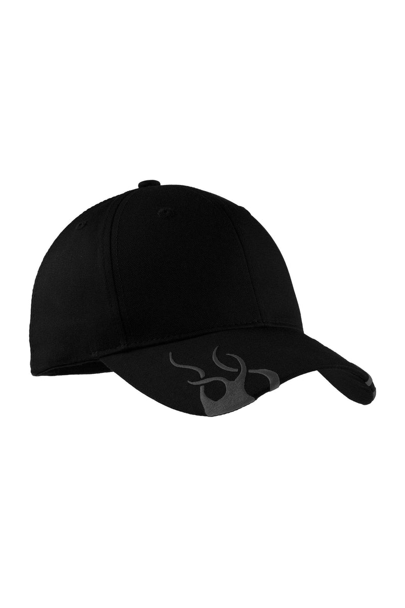 Port Authority® Racing Cap with Flames. C857-Caps-Bulkthreads.com, Wholesale T-Shirts and Tanks