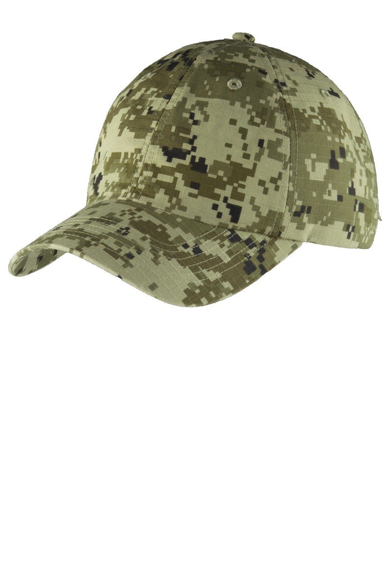Port Authority® Digital Ripstop Camouflage Cap. C925-Caps-Bulkthreads.com, Wholesale T-Shirts and Tanks