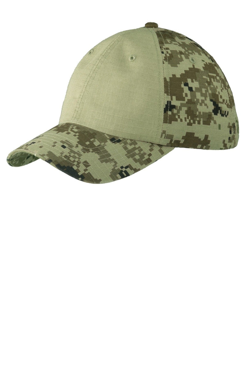 Port Authority® Colorblock Digital Ripstop Camouflage Cap. C926-Caps-Bulkthreads.com, Wholesale T-Shirts and Tanks
