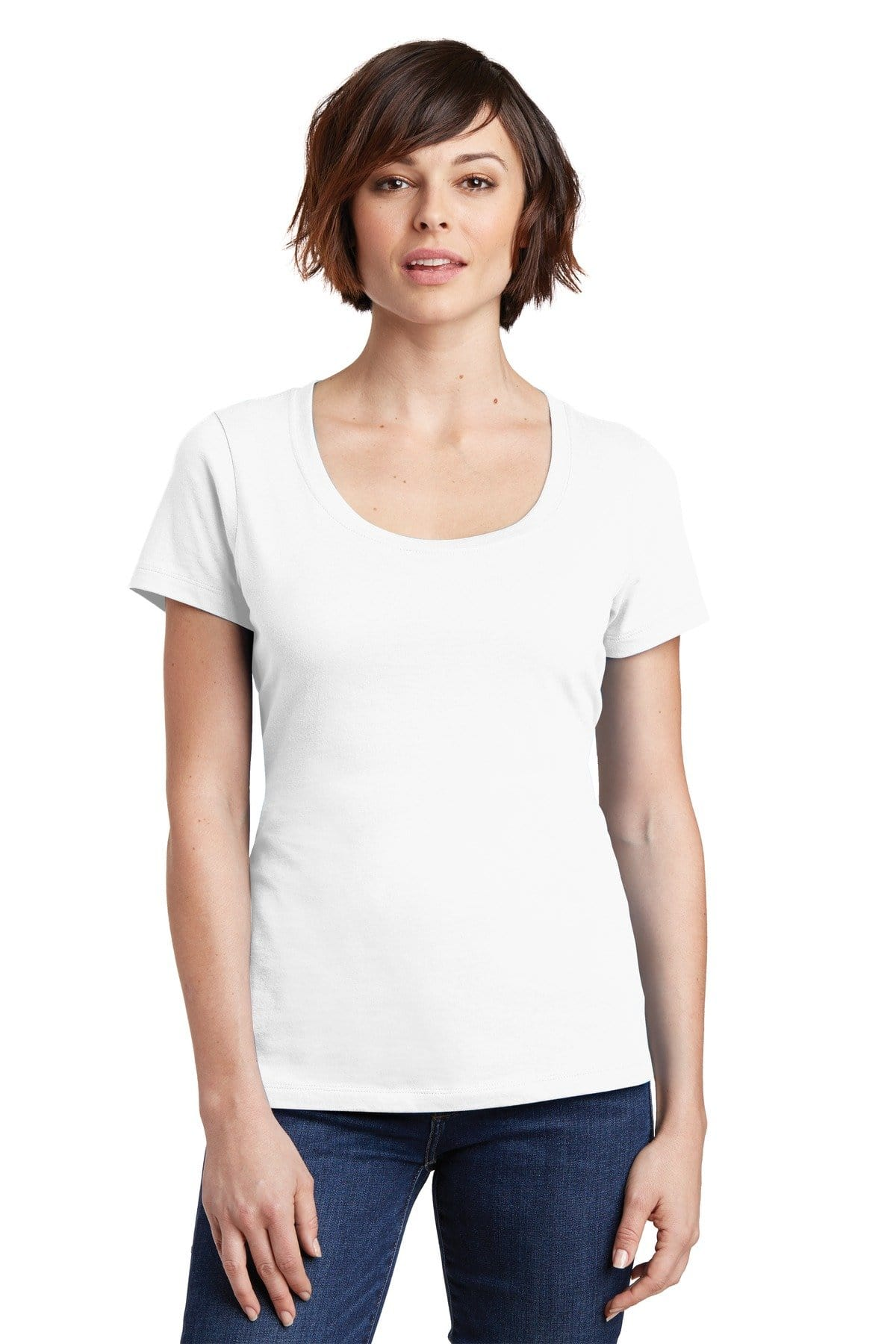 District ® Women's Perfect Weight ® Scoop Tee. DM106L-Ladies-wholesale apparel