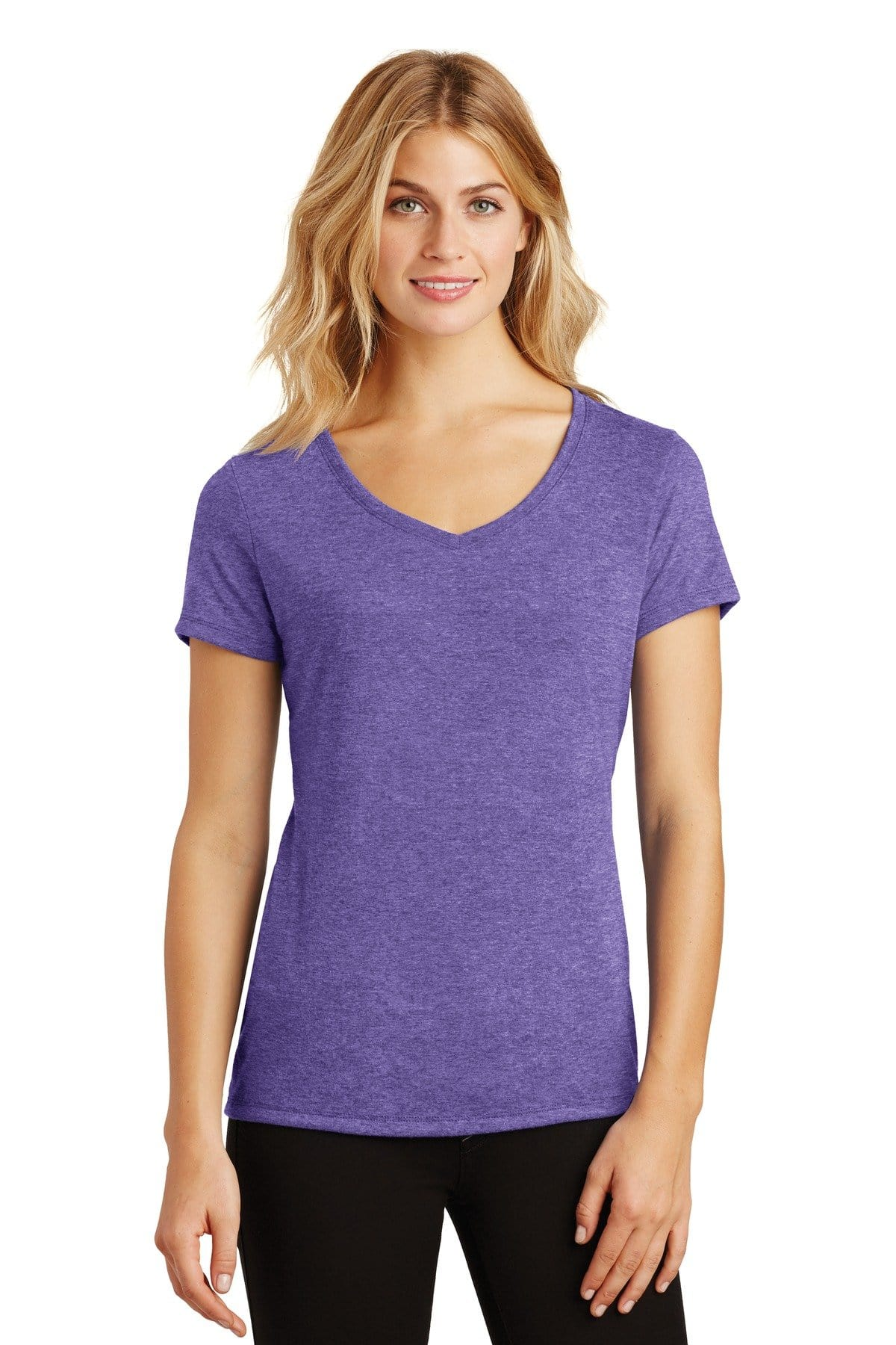 District ® Women's Perfect Tri ® V-Neck Tee. DM1350L, Basic Colors-Ladies-wholesale apparel
