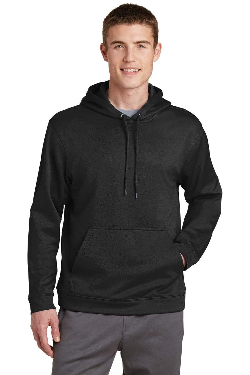Sport-Tek ® Sport-Wick ® Fleece Hooded Pullover. F244-Sweatshirts/Fleece-wholesale apparel