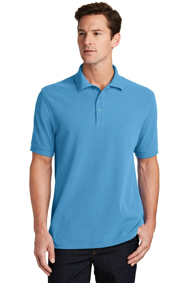 Port & Company ® Combed Ring Spun Pique Polo. KP1500-Polos/Knits-wholesale apparel