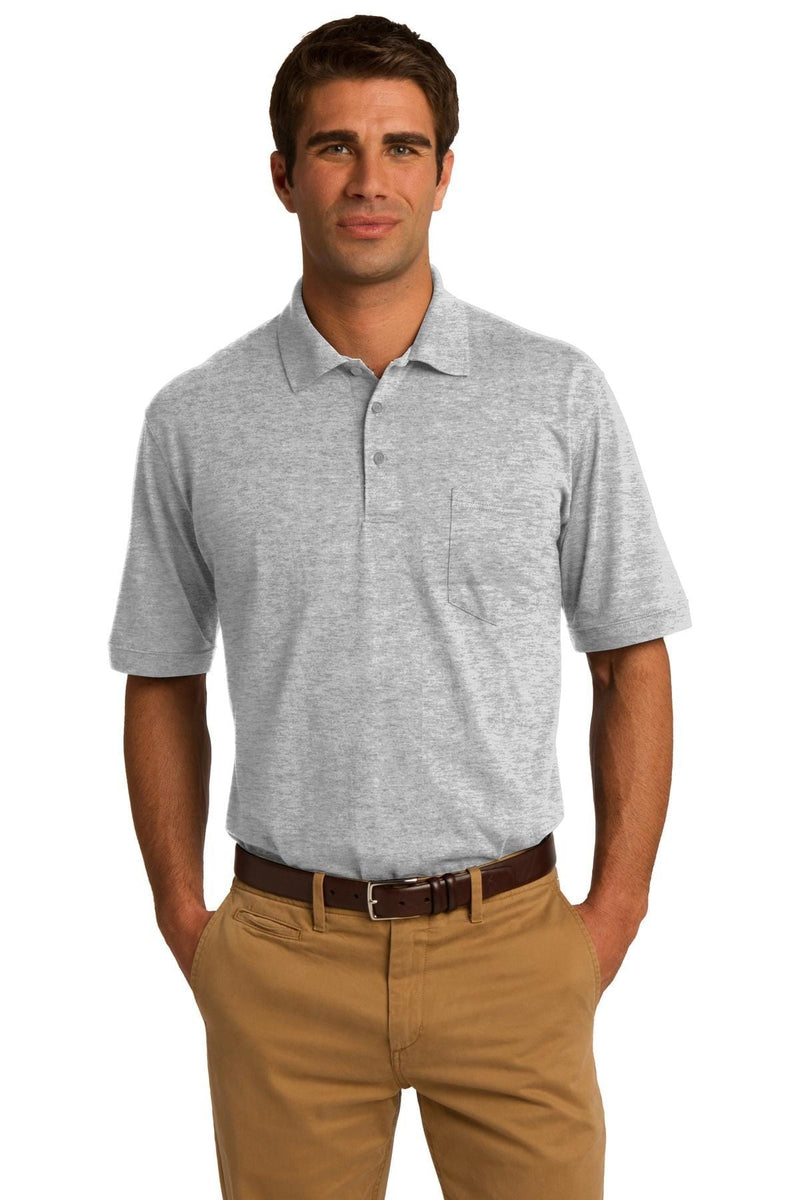Port & Company ® Core Blend Jersey Knit Pocket Polo. KP55P-Polos/Knits-wholesale apparel