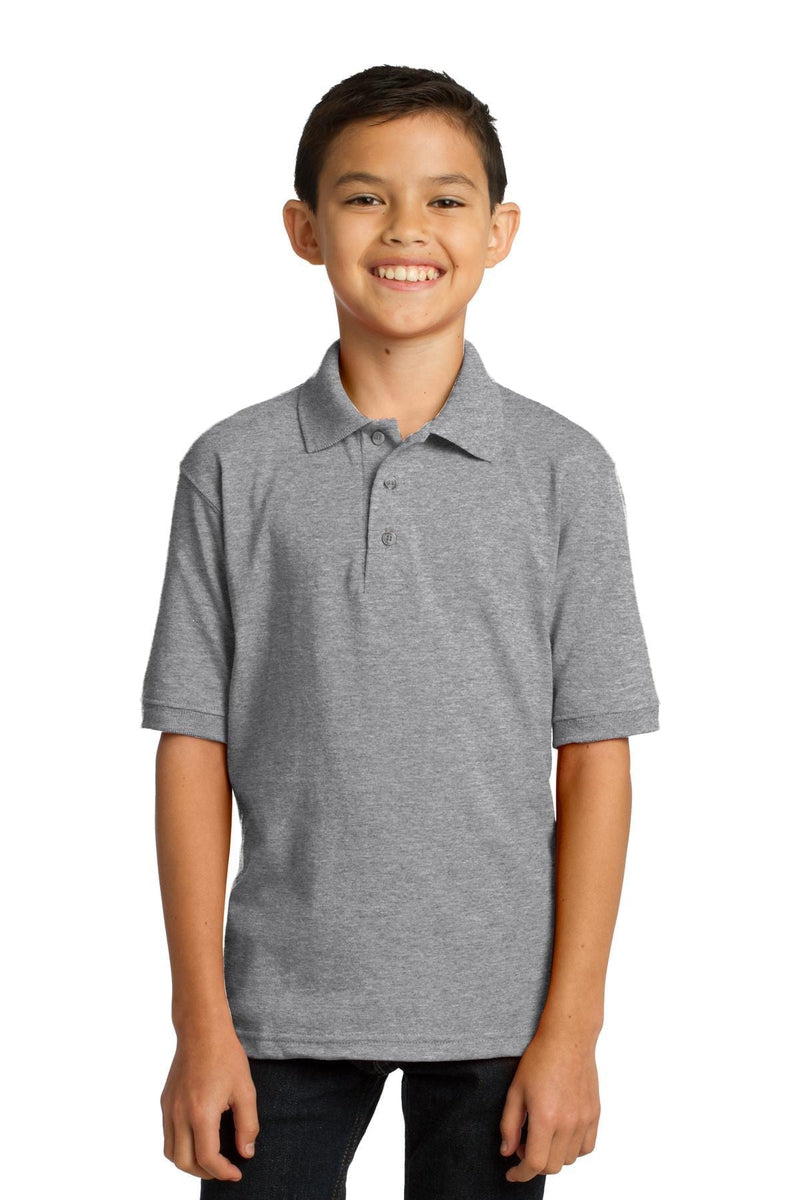 Port & Company ® Youth Core Blend Jersey Knit Polo. KP55Y-Polos/Knits-wholesale apparel