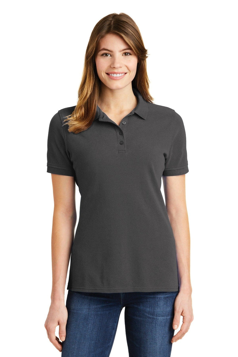 Port & Company ® Ladies Combed Ring Spun Pique Polo. LKP1500-Ladies-wholesale apparel