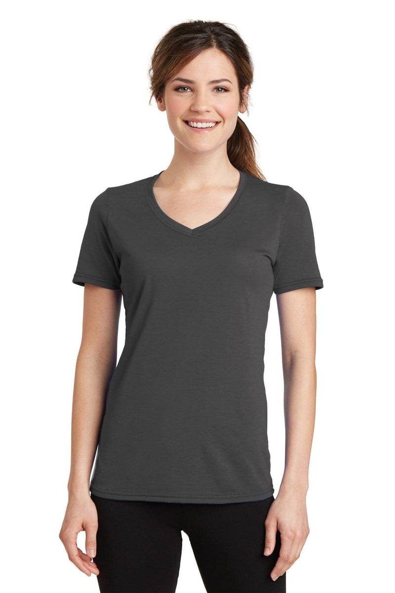Port & Company ® Ladies Performance Blend V-Neck Tee. LPC381V-Ladies-wholesale apparel
