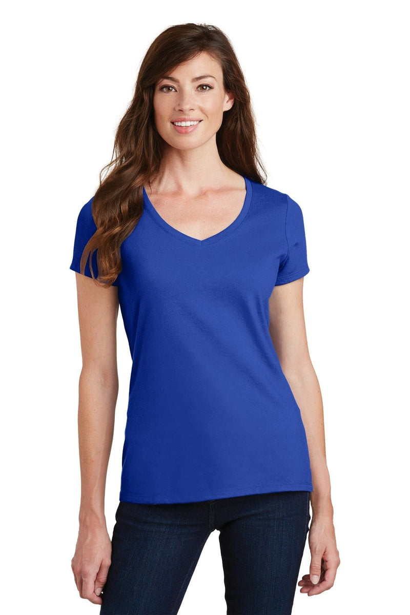 Port & Company ® Ladies Fan Favorite V-Neck Tee. LPC450V, Traditional Colors-T-Shirts-wholesale apparel