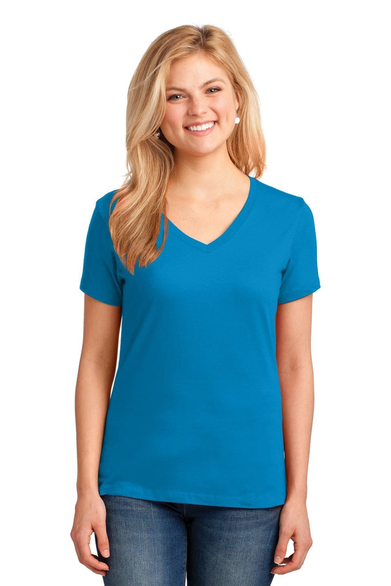 Port & Company ® Ladies Core Cotton V-Neck Tee. LPC54V, Extended Colors-Ladies-wholesale apparel