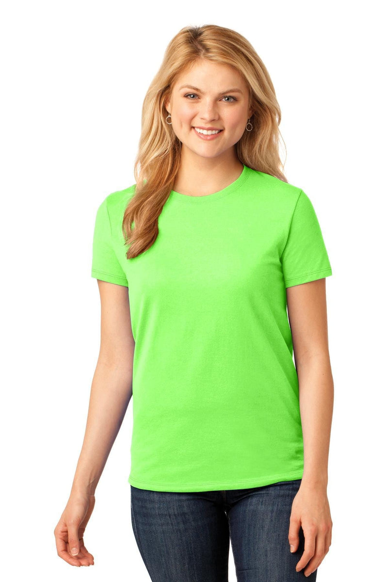 Port & Company ® Ladies Core Cotton Tee. LPC54, Traditional Colors-Ladies-wholesale apparel