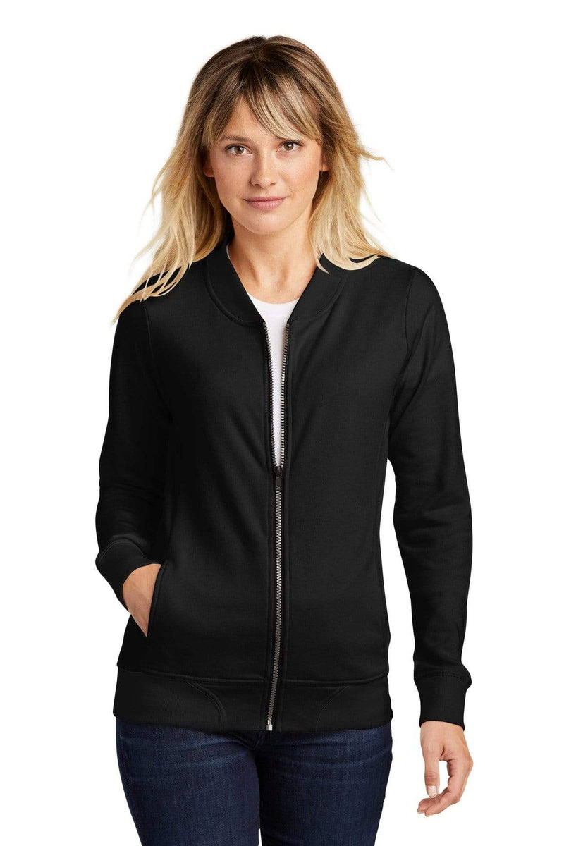 Sport-Tek ® Ladies Lightweight French Terry Bomber. LST274-Ladies-wholesale apparel