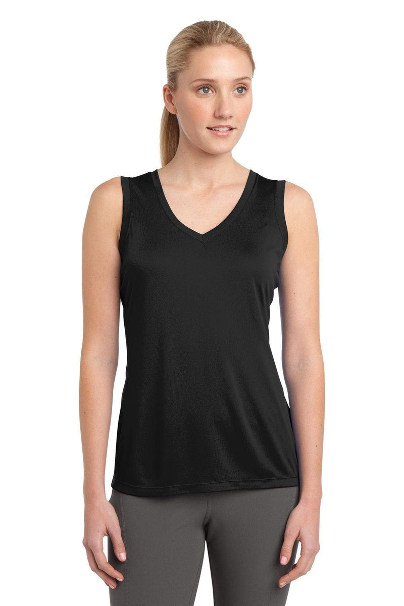 Sport-Tek ® Ladies Sleeveless PosiCharge ® Competitor™ V-Neck Tee. LST352-Activewear-wholesale apparel