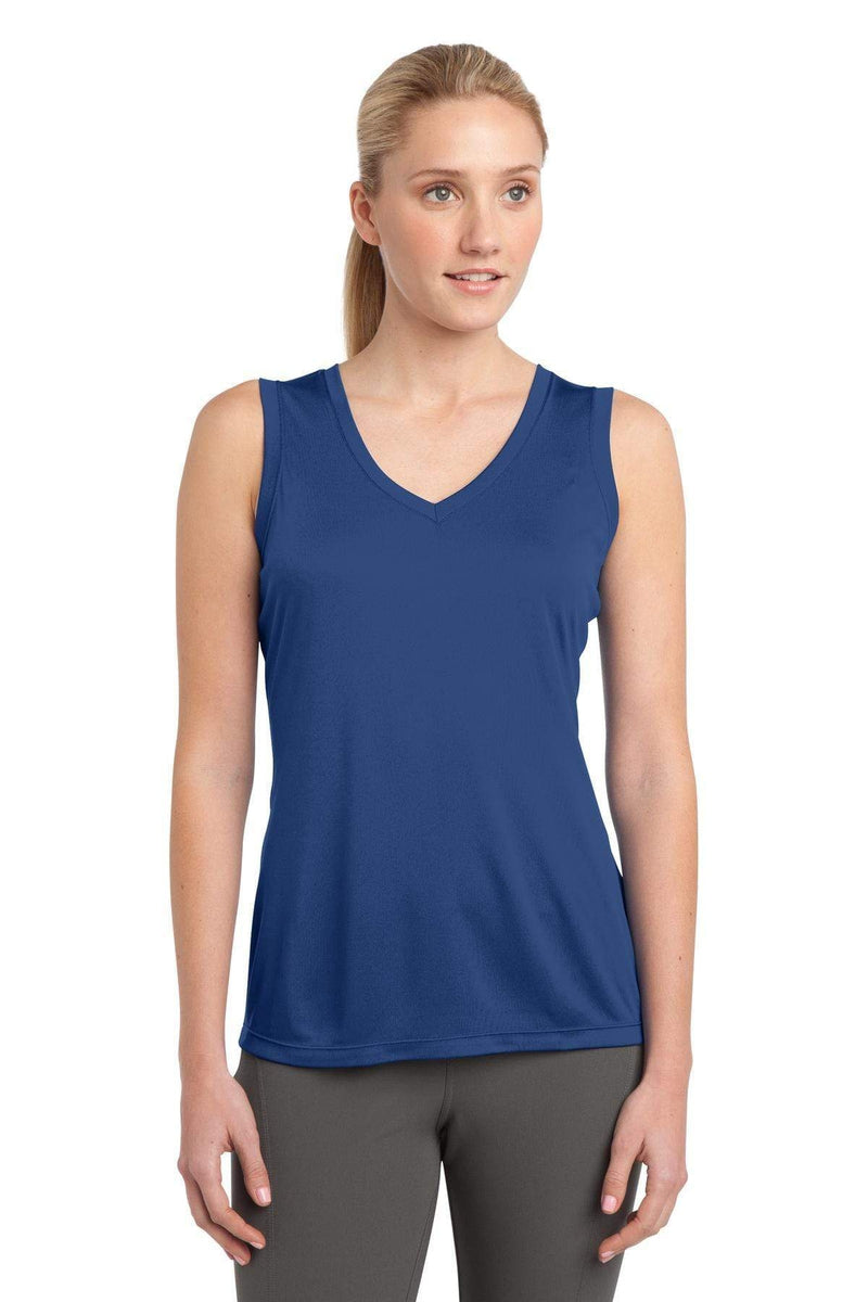 Sport-Tek ® Ladies Sleeveless PosiCharge ® Competitor™ V-Neck Tee. LST352, Basic Colors-Activewear-wholesale apparel