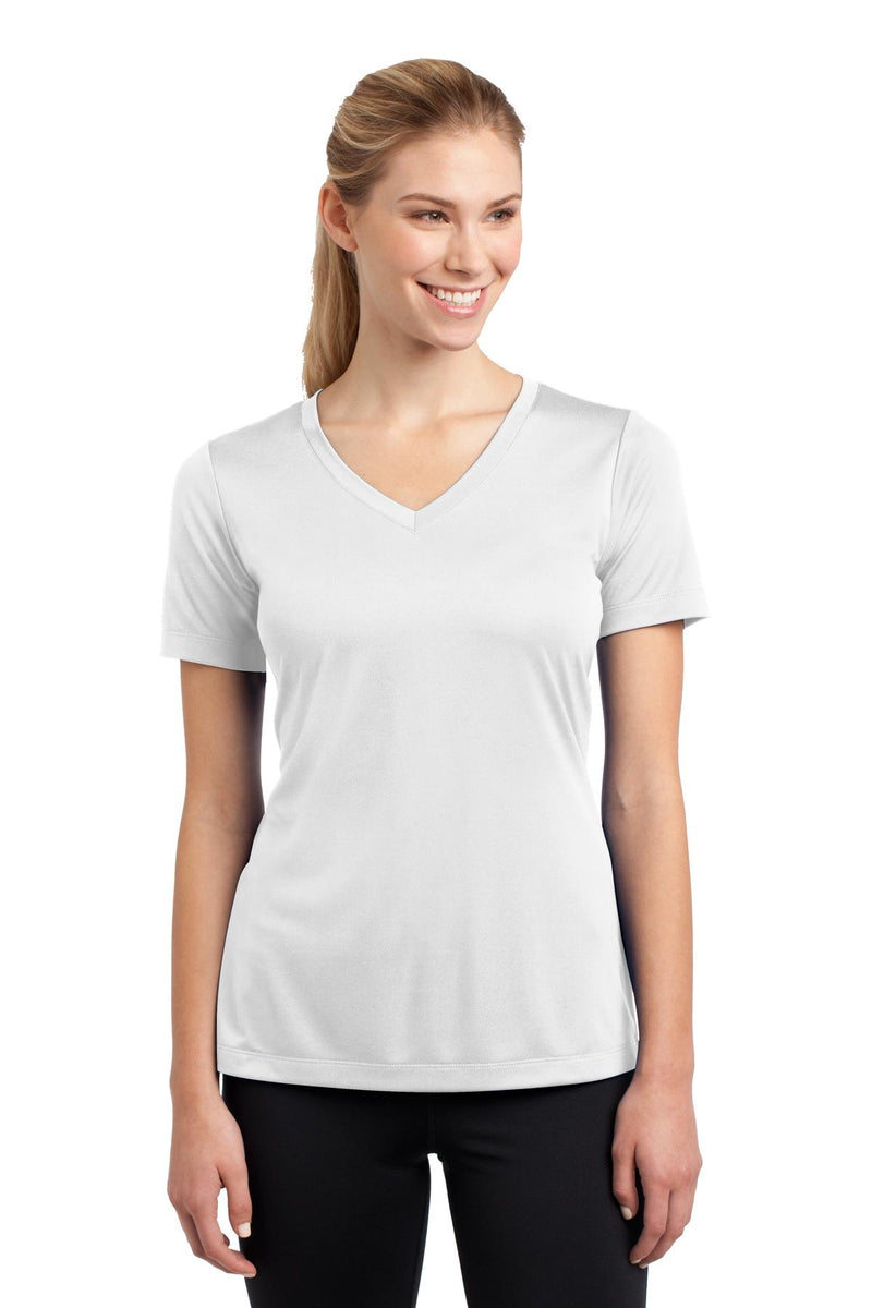 Sport-Tek ® Ladies PosiCharge ® Competitor™ V-Neck Tee. LST353, Basic Colors-Activewear-wholesale apparel