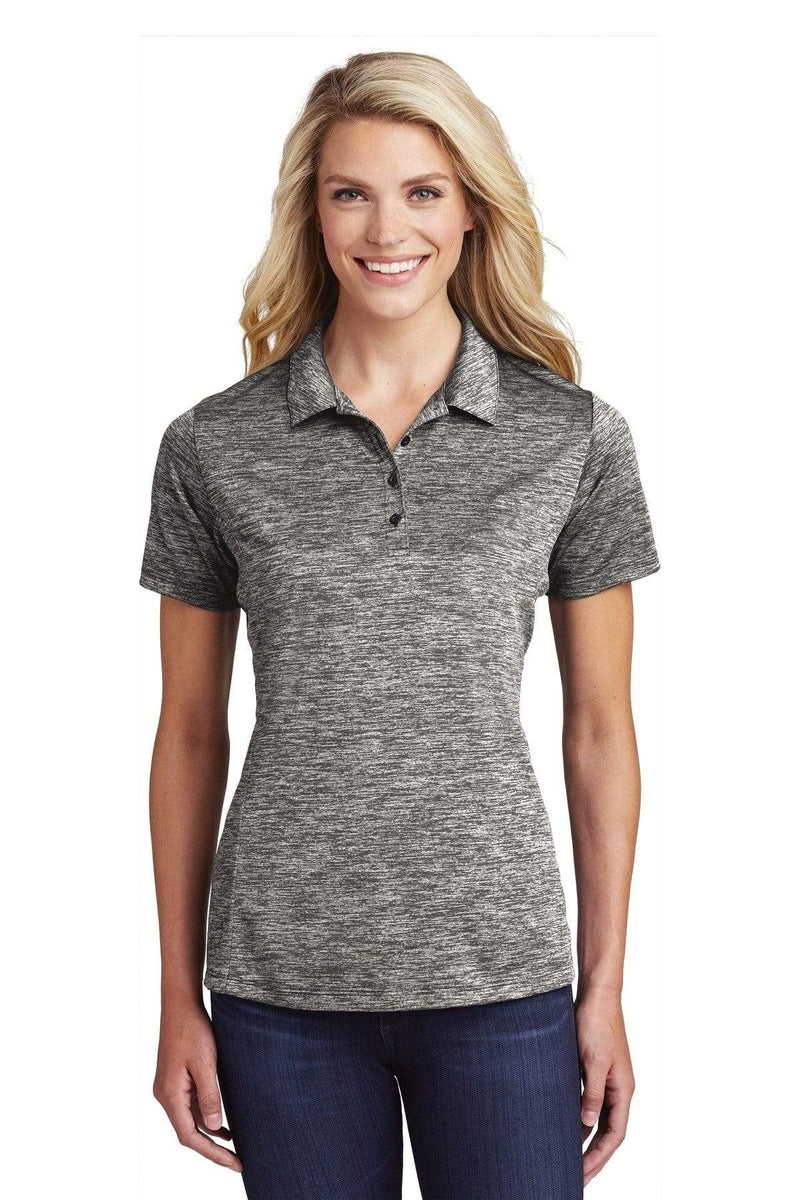 Sport-Tek ® Ladies PosiCharge ® Electric Heather Polo. LST590-Ladies-wholesale apparel