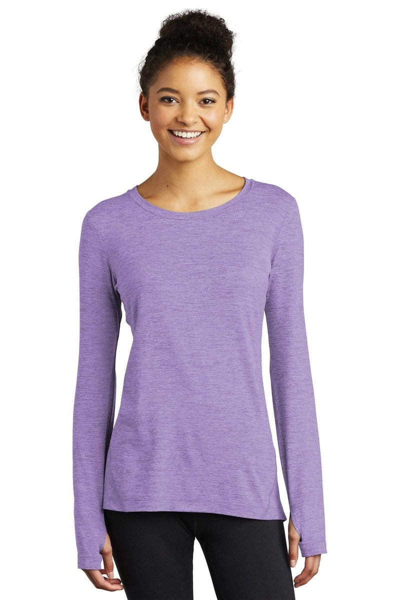 Sport-Tek ® Ladies Exchange 1.5 Long Sleeve Crew. LST710-T-Shirts-wholesale apparel