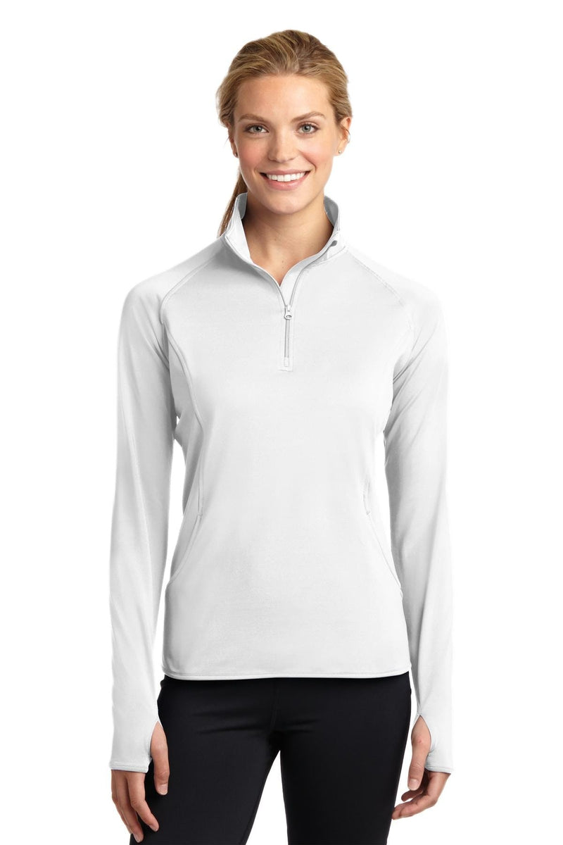 Sport-Tek ® Ladies Sport-Wick ® Stretch 1/2-Zip Pullover. LST850, Basic Colors-Activewear-wholesale apparel