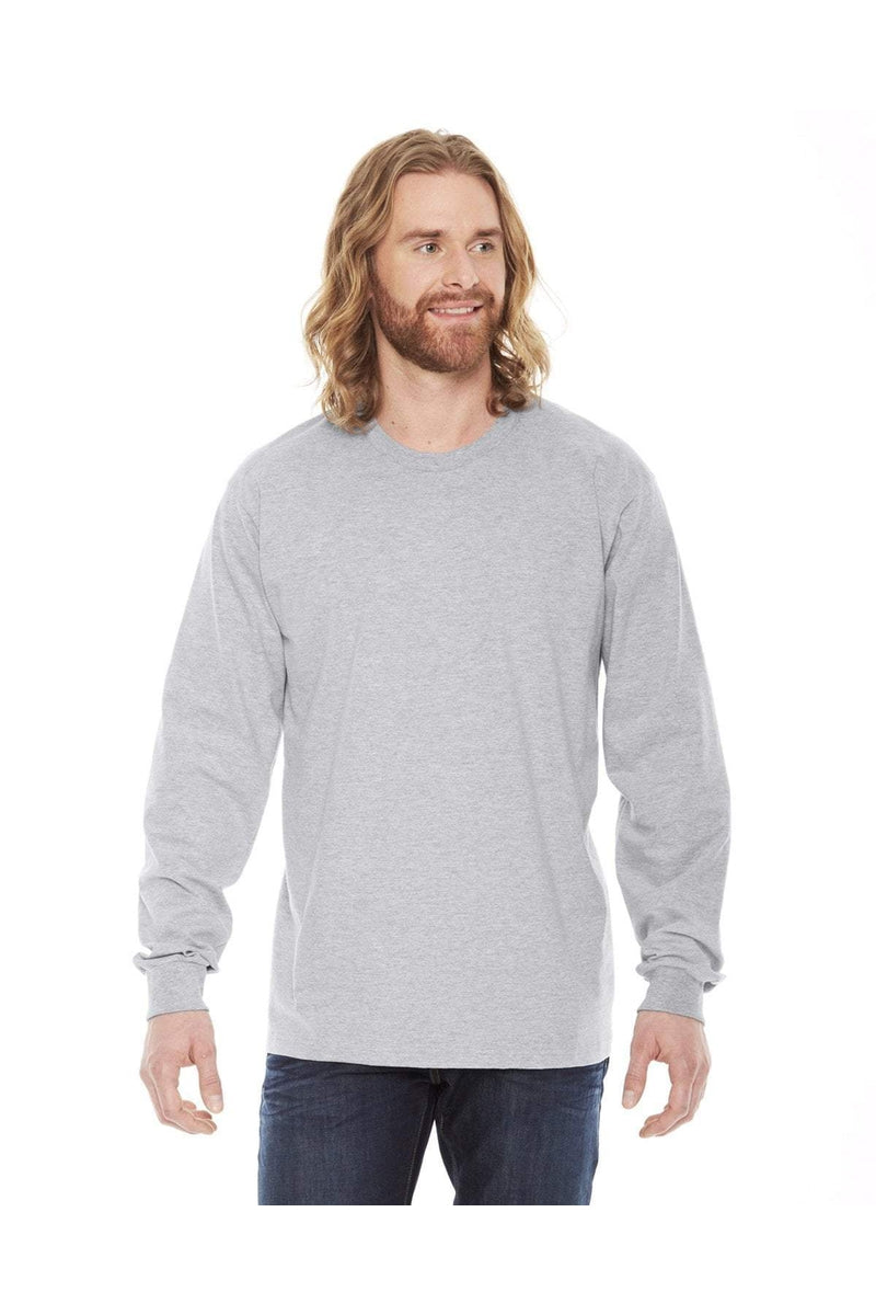 American Apparel 2007W: Unisex Fine Jersey Long-Sleeve T-Shirt-T-Shirts-Bulkthreads.com, Wholesale T-Shirts and Tanks