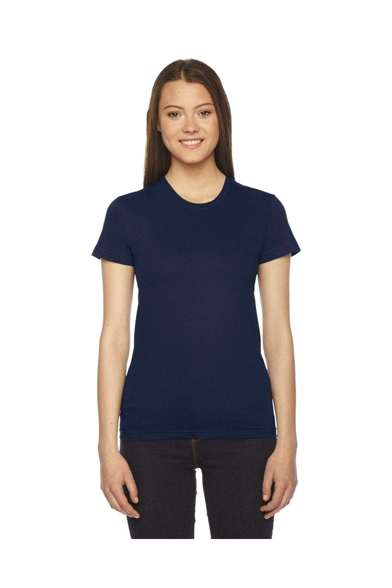 American Apparel 2102: Ladies' Fine Jersey USA Made Short-Sleeve T-Shirt