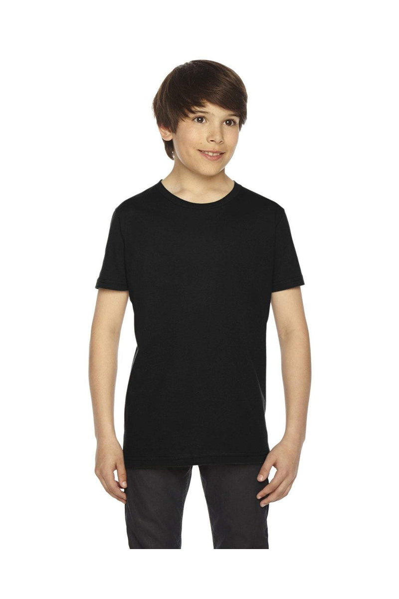 American Apparel 2201: Youth Fine Jersey USA Made Short-Sleeve T-Shirt-T-Shirts-Bulkthreads.com, Wholesale T-Shirts and Tanks