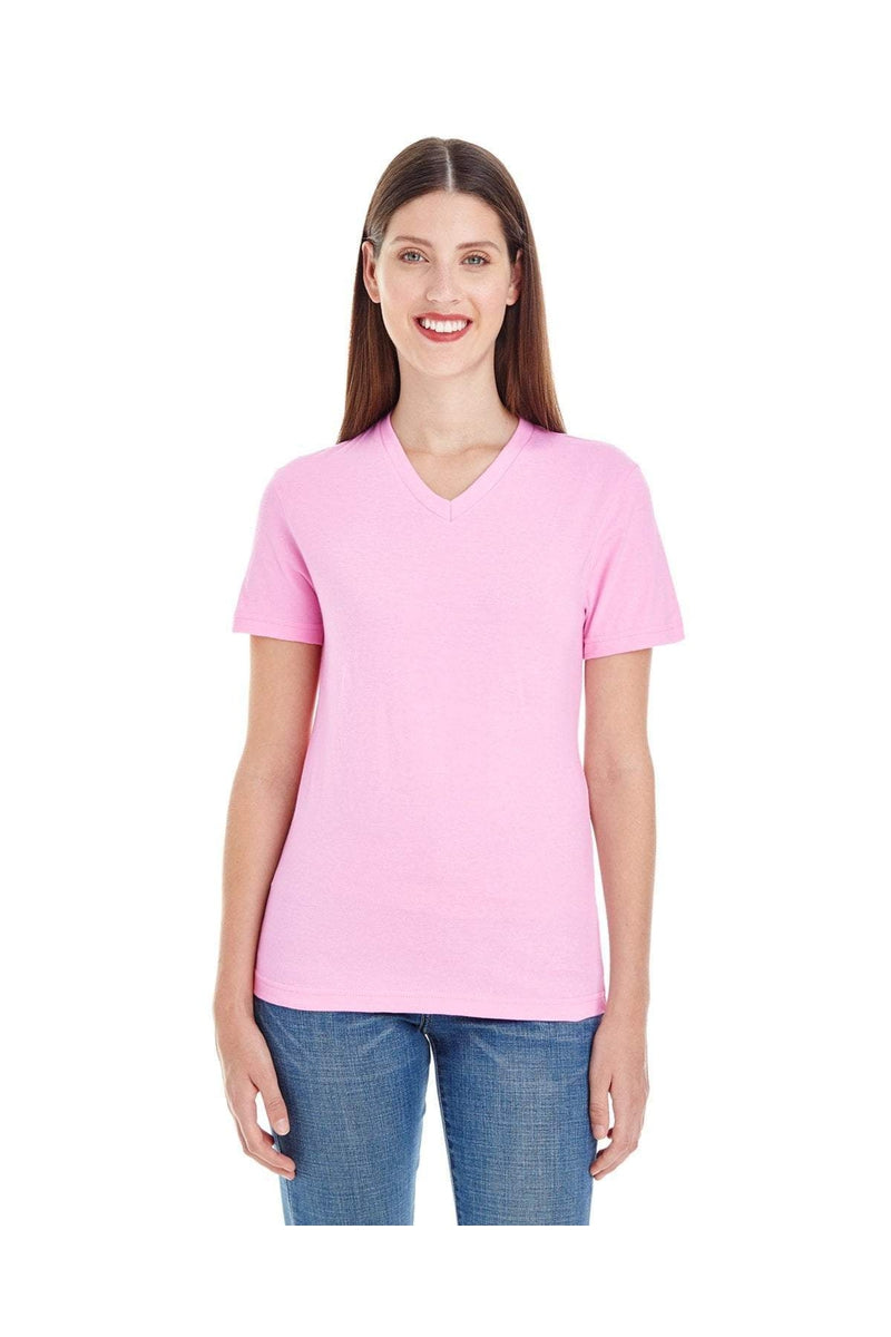 American Apparel 2356W: Ladies' Fine Jersey Short-Sleeve V-Neck-T-Shirts-Bulkthreads.com, Wholesale T-Shirts and Tanks