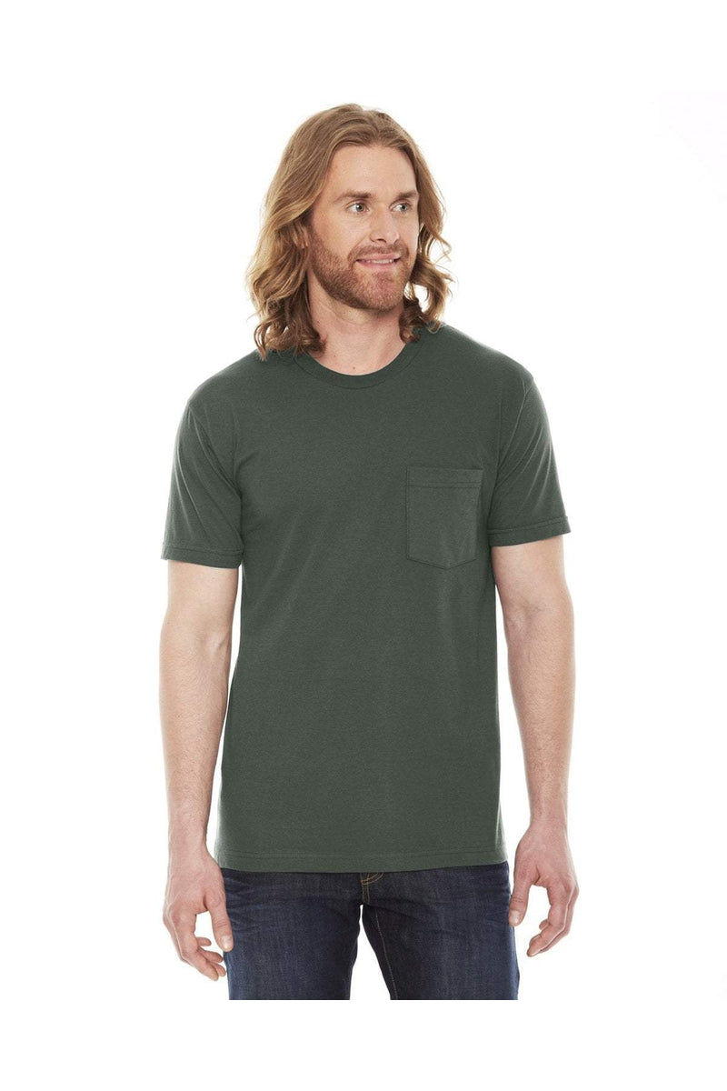 American Apparel 2406W: Unisex Fine Jersey Pocket Short-Sleeve T-Shirt-T-Shirts-Bulkthreads.com, Wholesale T-Shirts and Tanks