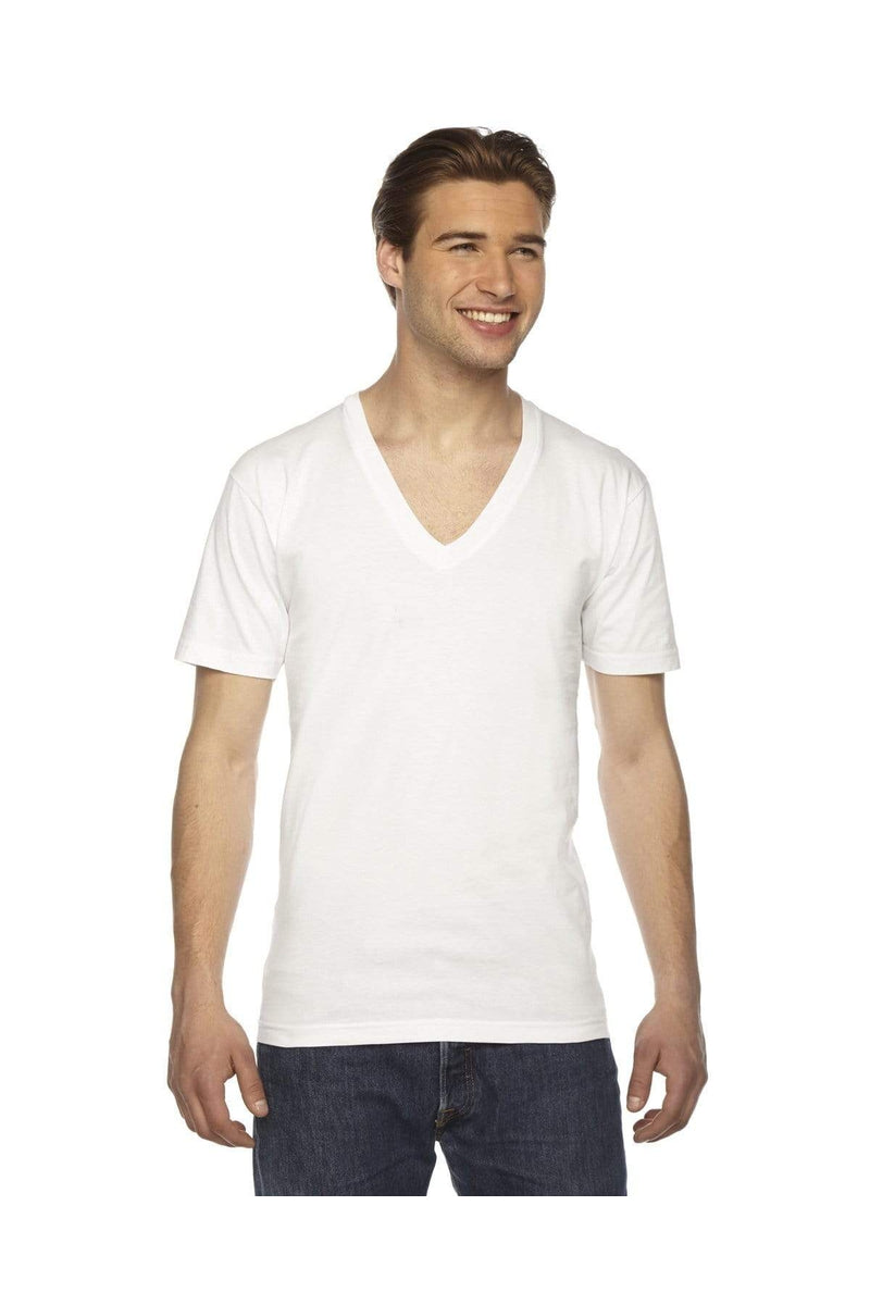 American Apparel 2456: Unisex USA Made Fine Jersey Short-Sleeve V-Neck T-Shirt-T-Shirts-Bulkthreads.com, Wholesale T-Shirts and Tanks