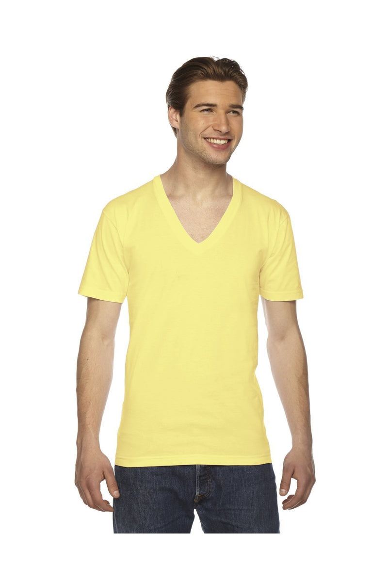 American Apparel 2456W: Unisex Fine Jersey Short-Sleeve V-Neck T-Shirt-T-Shirts-Bulkthreads.com, Wholesale T-Shirts and Tanks