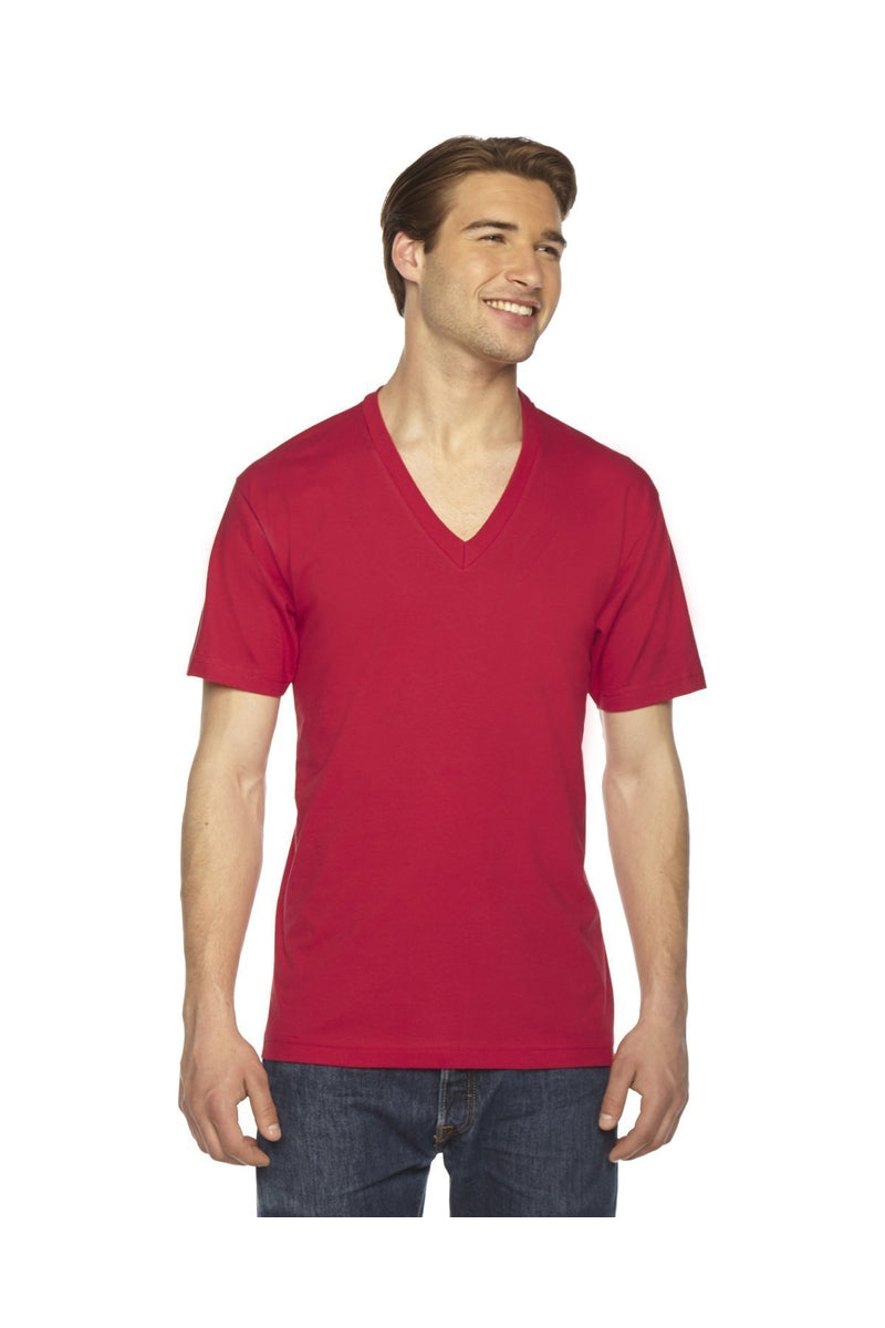 American Apparel 2456W: Unisex Fine Jersey Short-Sleeve V-Neck T-Shirt, Basic Colors-T-Shirts-Bulkthreads.com, Wholesale T-Shirts and Tanks